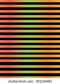 Line design in metallic color gradients.