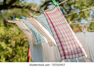 line drying washing