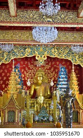 The line of the Golden Buddha in Thailand.
