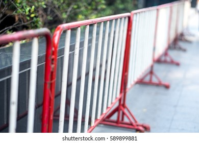 A line of iron cage protect owner property
