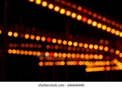Line the light bokeh