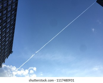Line on The Sky with Office Building