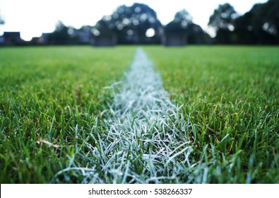 Line on soccerfield
