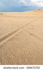 Line on white-sand in Vietnam