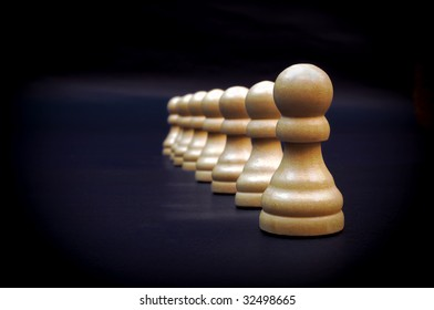 A line of pawns