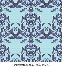 Line thai seamless pattern in violet and gray colors. Traditional Thailand background and texture with grid. Pattern thai silk style design for printing, fabric or textile.