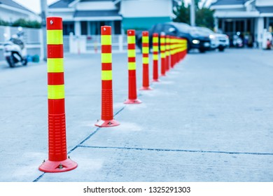 line of traffic cone in Street.