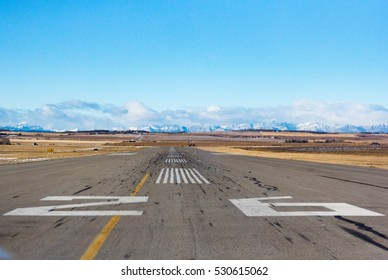 Lined up on a runway