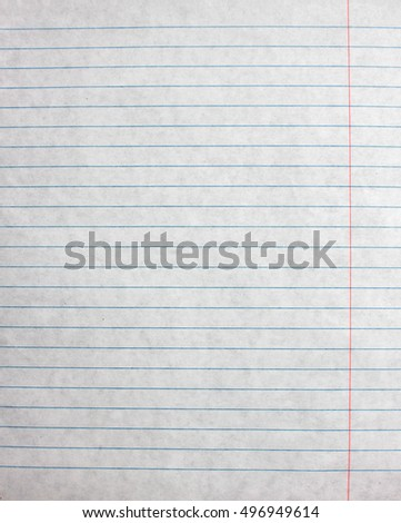 lined paper sheet blank template notebook stock photo edit now
