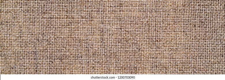 Linen cloth banner. Pure linen texture. Vintage linen fabric background. Natural linen texture