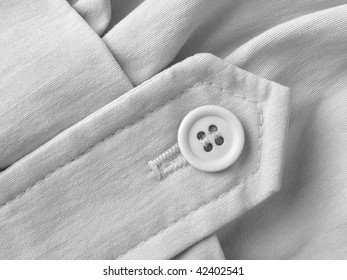 linen clothes fragment with button