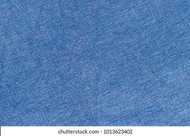 Linen fabric denim blue texture. Stone washed blue pure linen tablecloth background