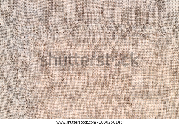 Linen Fabric Double Seam Stone Washed Stock Photo (Edit Now