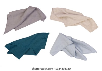 Linen napkins isolated on white background