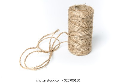 Linen string isolated on a white background