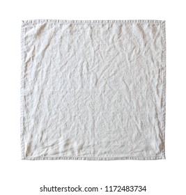 linen tablecloth isolated on white background with clipping path included