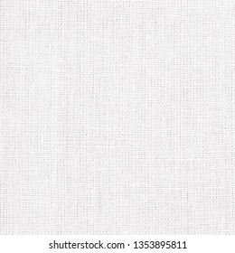 Linen texture, white cotton fabric as background