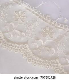 Linens for kids, baby linens, children's linens isolated on white background