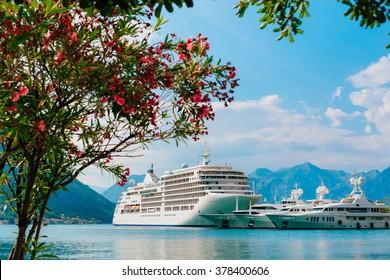Liner in the Bay of Kotor