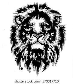 liner decor lion for tattoo