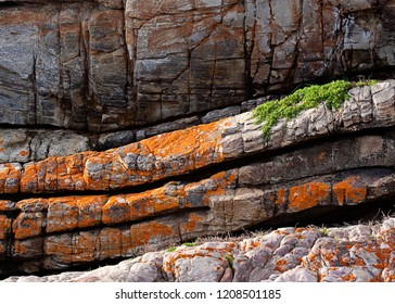 Lines formed by rock formations, heavy red colour