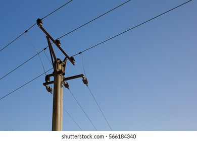 Lines of high voltage in nature.