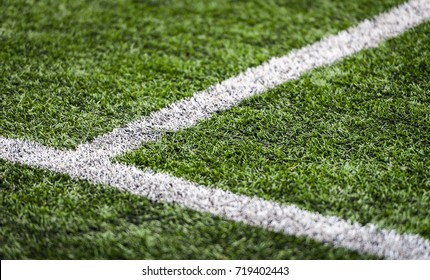 Lines on a football (soccer) pitch