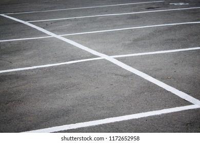 Lines parking, a detailed indication lines on the asphalt