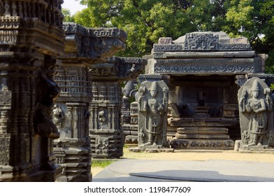 Linga shrine, Temple complex, Warangal Fort, Warangal Telangana India