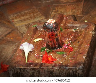 The lingam  is an abstract or aniconic representation of the Hindu deity, Shiva,