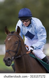 LINGFIELD PARK, ENGLAND. 04 SEPTEMBER 2009. Kieren Fallon of Ireland returns to horse racing after serving a drugs suspension imposed by the French Authorities.