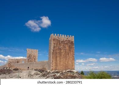 Linhares da Beira Castle - a Medievial, 12th Century Castle in Portugal, built on the northwest slope of Serra da Estrela