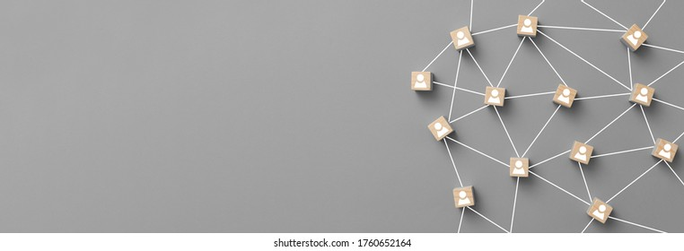 Linking entities. Networking, social media, SNS, internet communication connect concept. Teamwork, network and community abstract.