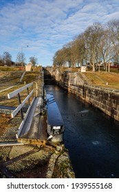 Linkoping, Sweden March 16, 2021 The Berg Slussar or Berg locks on the Gota Canal. - Shutterstock ID 1939555168