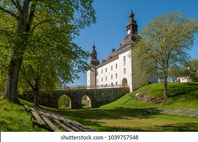 LINKOPING, SWEDEN - MAY 16, 2009: Ekenas castle in the countryside outside Linkoping. The castle, which is a popular tourist attraction, was built in the 17th century.