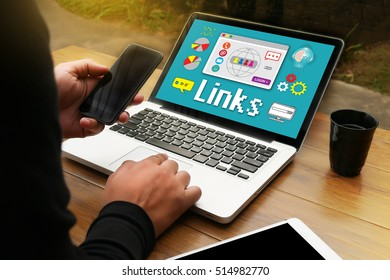 Links Global Communication Connection Hyperlink seo search engine optimization world connect