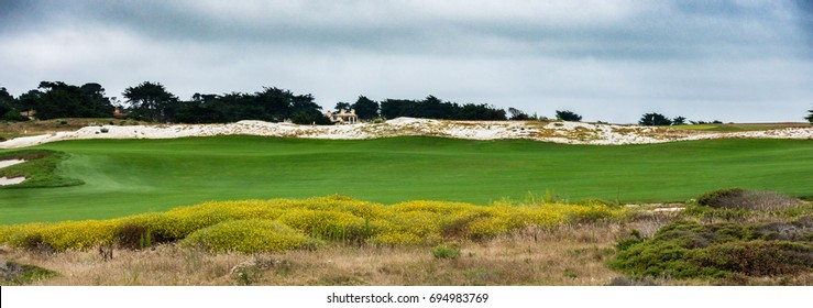 The Links at Spanish Bay golf course in Pebble Beach, along the Monterey Bay Pacific central coast of California.