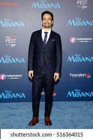 Lin-Manuel Miranda at the AFI FEST 2016 Premiere of 'Moana' held at the El Capitan Theatre in Hollywood, USA on November 14, 2016.