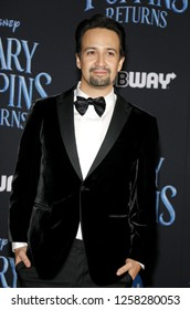 Lin-Manuel Miranda at the World premiere of Disney's 'Mary Poppins Returns' held at the Dolby Theatre in Hollywood, USA on November 29, 2018.