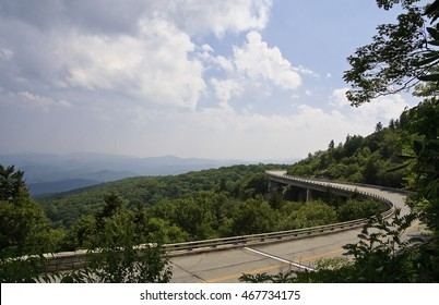 Linn Cove Viaduct in the Summer on the Blue Ridge Parkway