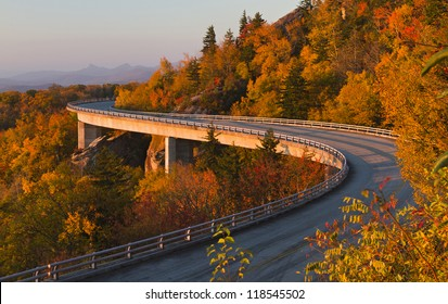Linn Cove Viaduct at sunrise
