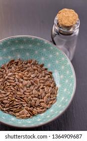 linseed, flax seed detail, healthy herbs naturopathy