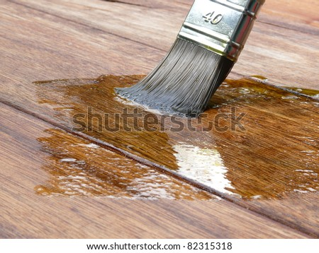 Linseed Oil Varnish Paint On Wood Stock Photo Edit Now 82315318