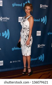 Linsey Godfrey at the 24th Annual GLAAD Media Awards, JW Marriott, Los Angeles, CA 04-20-13