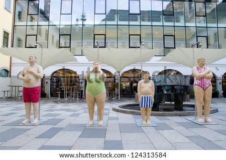 Linz Austria Oct 12 Sculptures Landeskulturzentrum Stock Photo Edit