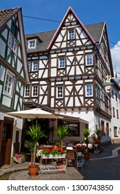 Linz am Rhein, Germany - August 9th 2012: A beautiful timber-framed building in the picturesque town of Linz am Rhein in Germany.