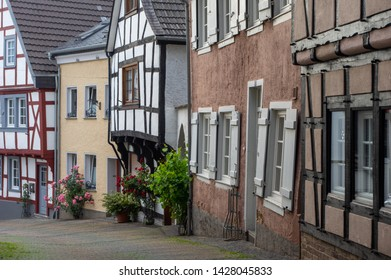 Linz am Rhein, Rhineland-Palatinate / Germany - June 5th 2019: Linz on the Rhine old town scene