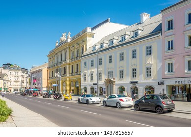 LINZ,AUSTRIA - JUNE 18,2019 - In the streets of Linz. Linz is the third-largest city of Austria.