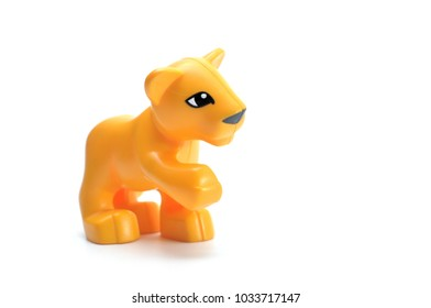 lion doll isolated on white background