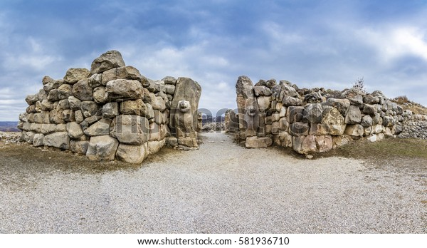 The lion gate of The Hattusa that is The capital of the Hittite Civilization, Corum